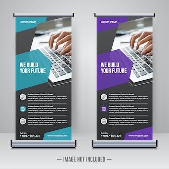 Rollup corporativo ou modelo de design de banner x