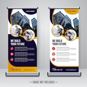 Rollup corporativo ou modelo de design de banner