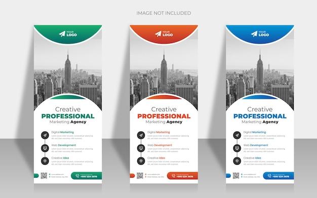 Rollup de negócios ou modelo de design de banner x