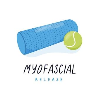 Rolo de espuma para pilates de ioga de liberação miofascial