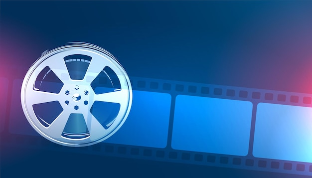 Rolo de filme e fundo de tira de filme