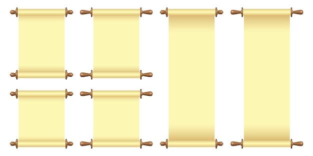 Rolo de papel em branco isolado