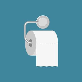 Rolo de papel higiênico com suporte de metal