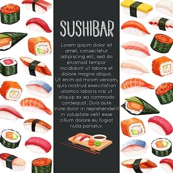 Rolo de sushi japonês