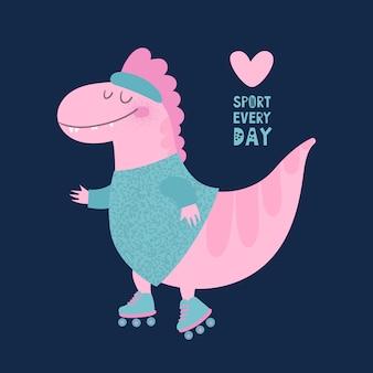 Rolo do dinossauro do esporte