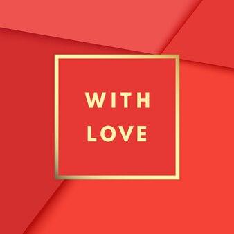 Romântico com amor, criativo, cartão de felicitações de registro no diário para impressão. logotipo dourado no quadro em abstrato.