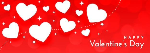 Romântico vermelho feliz dia dos namorados banner