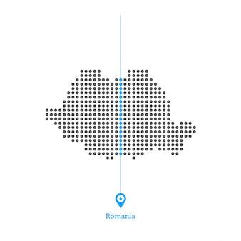 Roménia pontilhada mapa vector design