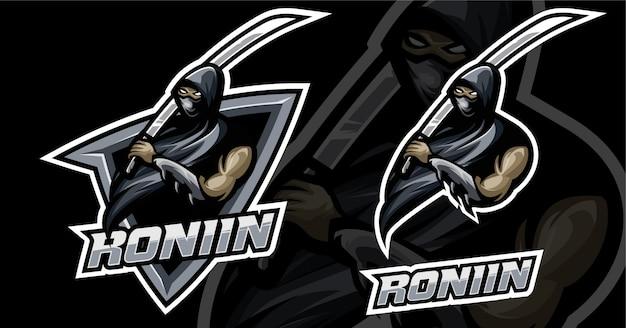 Ronin esport design de logotipo