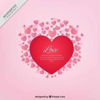 Rosa com corações