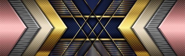 Rosa digital criativo em azul escuro com gradação de cor dourada