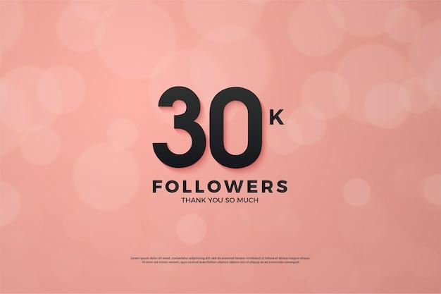 Rosa e preto para o fundo dos mil seguidores