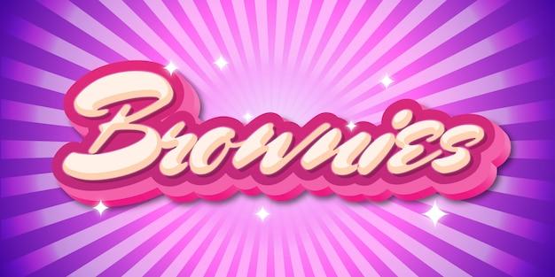 Rosa e roxo bonito texto 3d efeito estilo gráfico