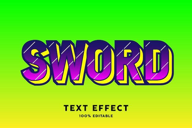 Rosa escuro sobre efeito de estilo de texto verde pop art
