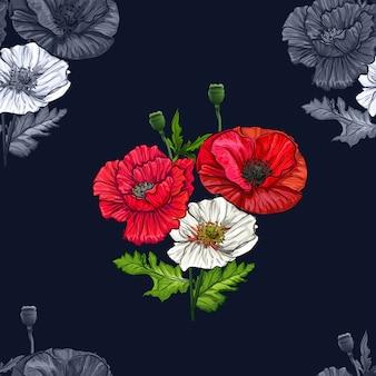Rosa flores sem emenda