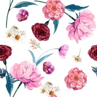 Rosa sem costura padrão para papel de parede e fundo premium