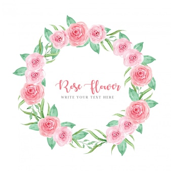 Rosas de quadro rosa de grinalda
