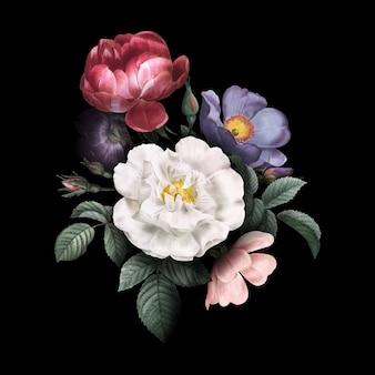 Rosas em flor