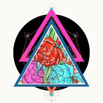 Rosas em um triângulo