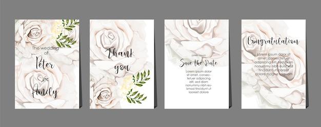 Rosas no conjunto de cartas