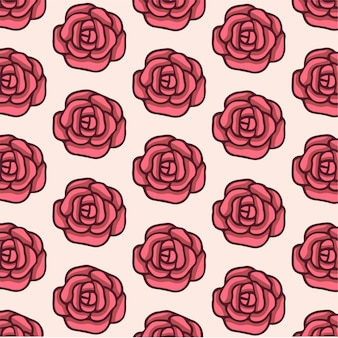 Rosas padrão de fundo mídia social postar ilustração vetorial