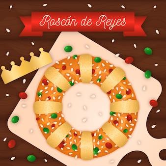 Roscon de reyes design plano
