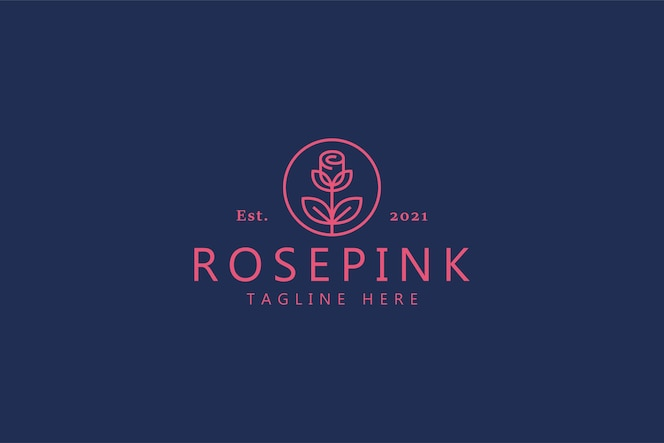 rose lindo amor símbolo logotipo. joias de marcas de luxo, cosméticos e boutiques