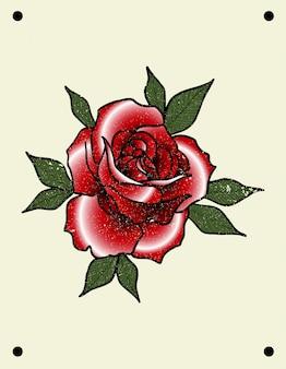 Rose tattoo old school