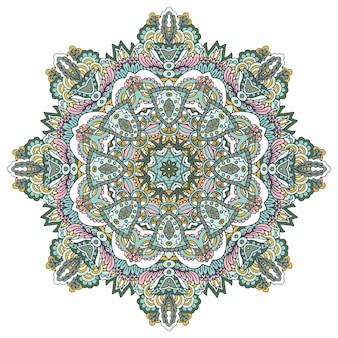 Roseta de mandala colorida.