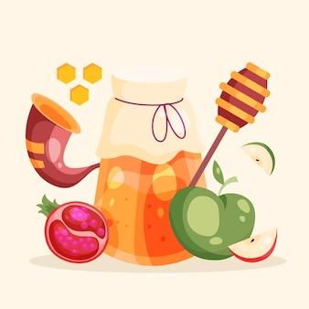 Rosh hashaná com maçã e mel