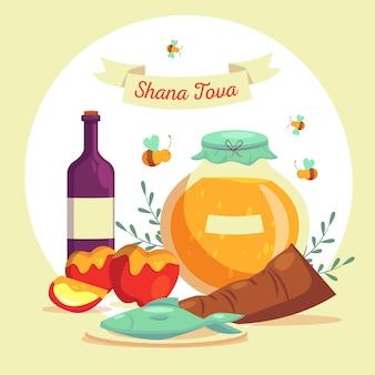 Rosh hashaná com mel e maçã
