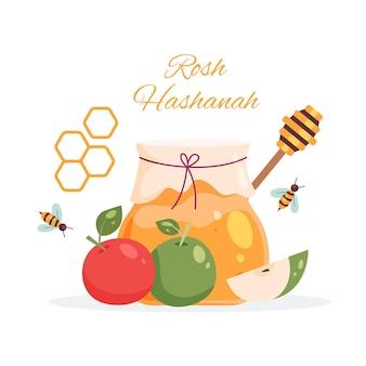 Rosh hashaná com mel e maçãs