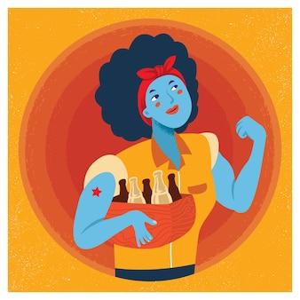 Rosie a ilustração dos desenhos animados de rebitador