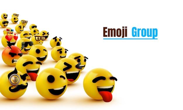 Rosto amarelo piscando do grupo de emoji