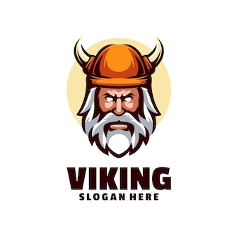 Rosto de guerreiro viking, este logotipo é perfeito para empresas que desejam representar autoridade