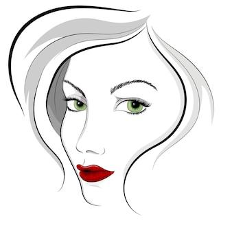 Rosto de mulher bonita