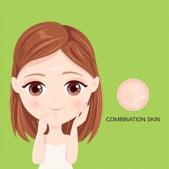 Rosto de pele combinada