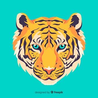 Rosto de tigre elegante
