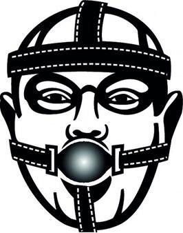 Rosto masculino com máscara