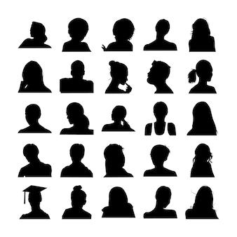 Rostos de homem e mulher