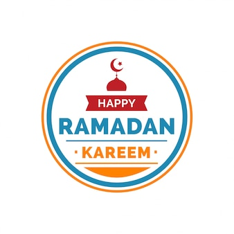 Rotar ramadan kareem em quadro redondo