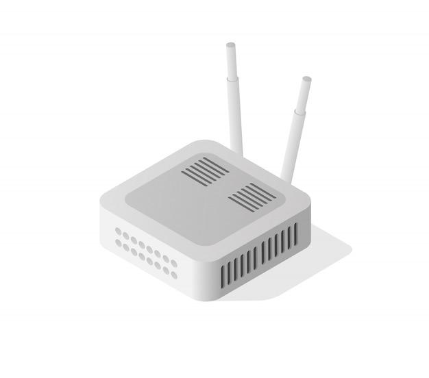Roteador isométrico da internet