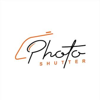 Roteiro de fotografia de texto com lente de câmera