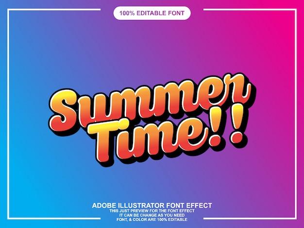 Roteiro de verão estilo gráfico fácil fonte editável