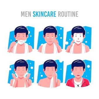 Rotina de cuidados com a pele para homens