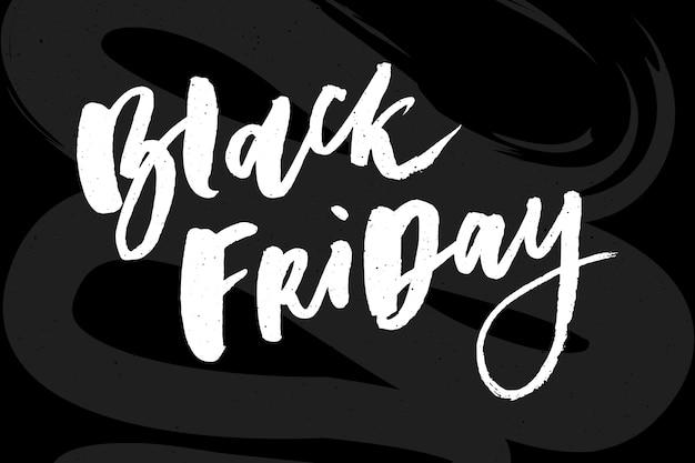 Rotulação artesanal de venda de sexta-feira negra, caligrafia