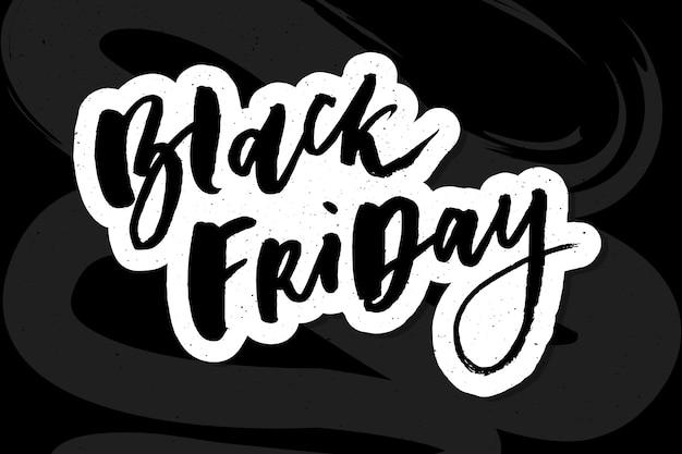Rotulação artesanal de venda de sexta-feira negra