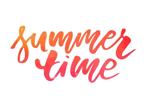 Rotulação com frase horário de verão. ilustração vetorial
