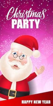 Rotulação da festa de natal com o papai noel