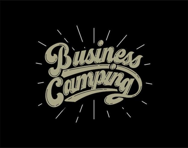 Rotulação de acampamento de negócios